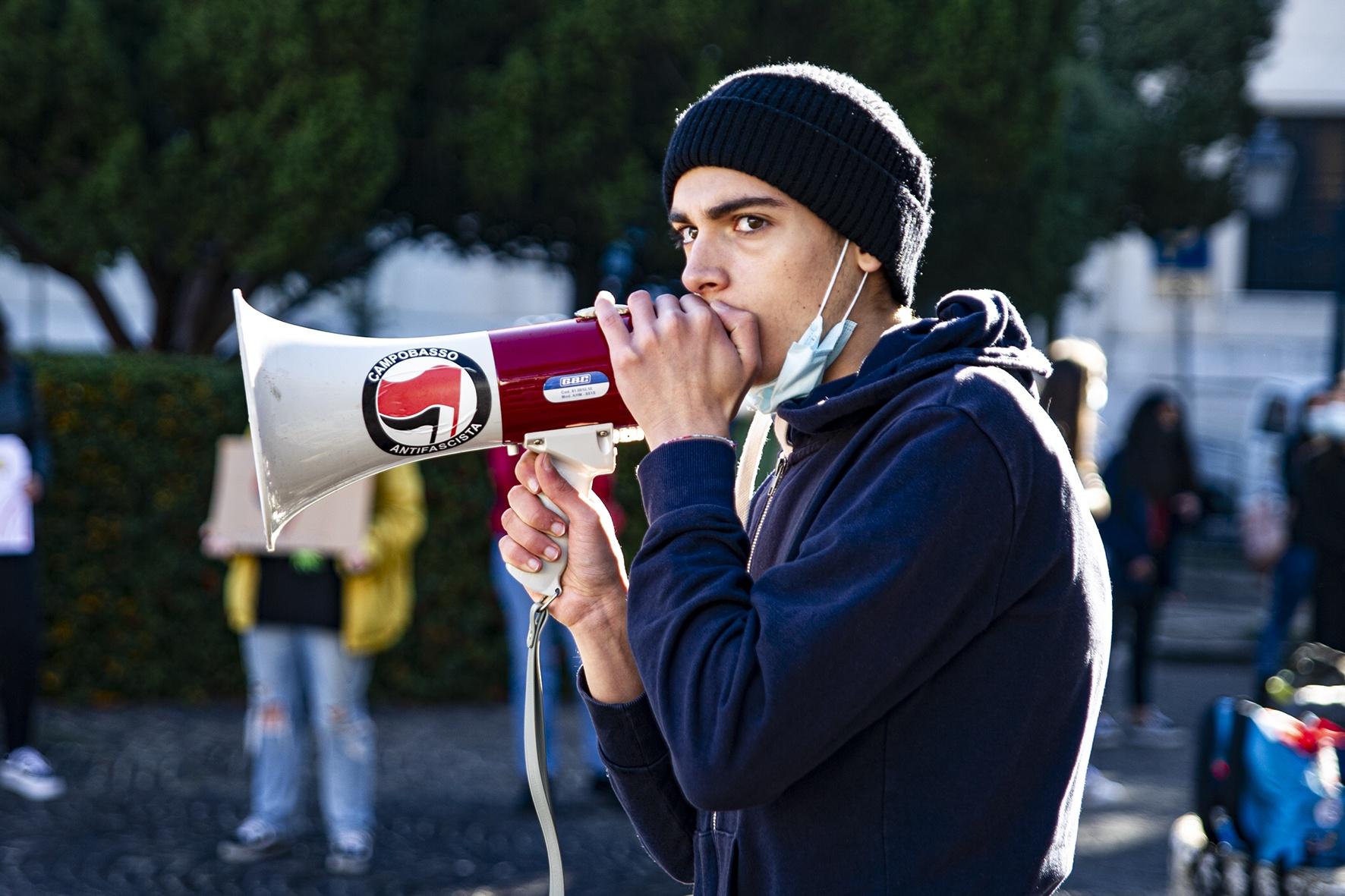 Campobasso Manifestazione Studenti 23 ottobre 2020